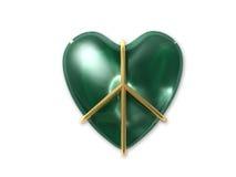 Eu amo a paz verde Imagem de Stock Royalty Free