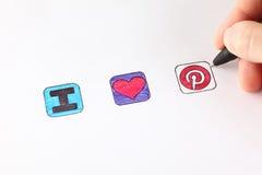 Eu amo Pinterest Imagens de Stock Royalty Free