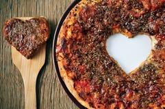 Eu amo a pizza Imagens de Stock Royalty Free