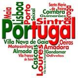 Eu amo Portugal ilustração royalty free