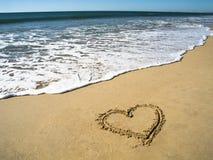 Eu amo a praia fotografia de stock