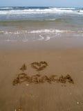 Eu amo a praia 2 Fotografia de Stock