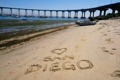 Eu amo San Diego Imagem de Stock Royalty Free