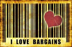 Eu amo vendas Imagens de Stock