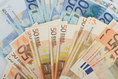 EU banknotes in 50 and 20 euro bills Stock Image