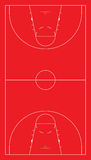 EU basketball court. Vector illustration of european basketball court Royalty Free Stock Photo