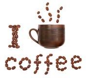 Eu bebo o café Fotos de Stock