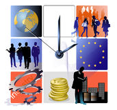 EU biz watch Royalty Free Stock Images
