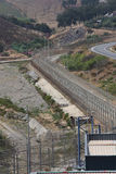 EU border fence Ceuta Stock Photos
