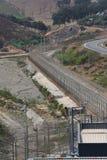 EU border fence Ceuta Stock Photos