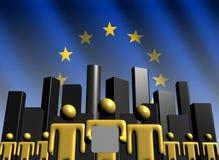 EU business team with skyline Stock Photos