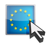 EU button and cursor Royalty Free Stock Photography