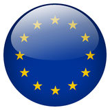 EU button Royalty Free Stock Images