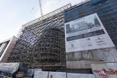 EU-byggnad i Bryssel Arkivbilder