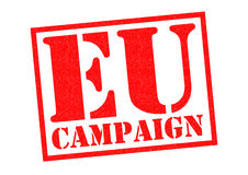 EU CAMPAIGN. Red Rubber Stamp over a white background Royalty Free Stock Image