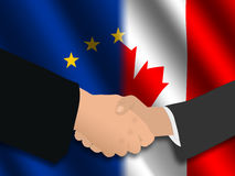 EU Canadian meeting stock illustration