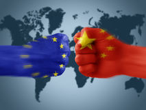 EU x China Royalty Free Stock Photos