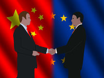 EU Chinese business meeting Stock Image