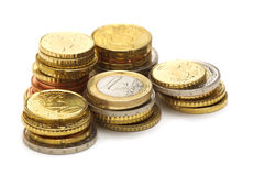 Eu coins Royalty Free Stock Images