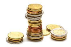 Eu coins Royalty Free Stock Photo