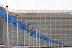 EU Commission building, Brussels, Belgium Royalty Free Stock Image