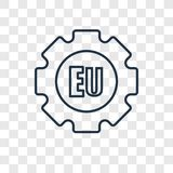 EU concept vector linear icon isolated on transparent background royalty free illustration