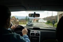 Eu conduzo meu carro Imagens de Stock Royalty Free