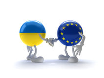 EU cooperation and Ukraine Stock Images