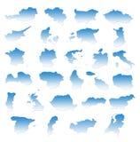 Eu countries. On white background Stock Illustration
