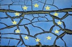 EU Crashed Background Royalty Free Stock Photography