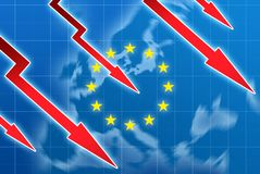 Eu crisis concept illustration Royalty Free Stock Photography