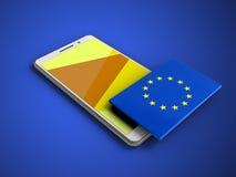 EU 3d kennzeichnen stock abbildung