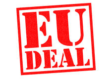 EU DEAL. Red Rubber Stamp over a white background Royalty Free Stock Images