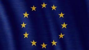 EU der Europäischen Gemeinschaft kennzeichnen stock video footage