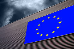 Eu disintegration background Royalty Free Stock Photography