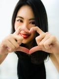Eu dou-lhe meu ♥ do coração Imagens de Stock Royalty Free