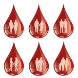 Eu dou meu sangue com algum sangue ilustração royalty free