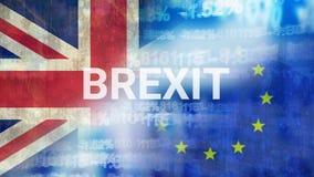Eu e vídeo da bandeira de Grâ Bretanha ilustração do vetor