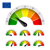 EU energy efficiency rating Royalty Free Stock Photo