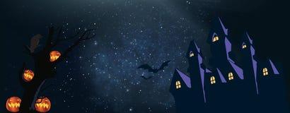 Eu estou esperando que você tem grande Dia das Bruxas COFRE FORTE DA ESTADA ilustração royalty free