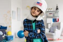 Eu estou indo ser um astronauta Fotografia de Stock