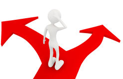 Eu estou no bifurcated foto de stock royalty free