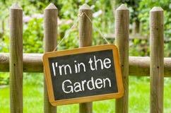 Eu estou no jardim fotos de stock