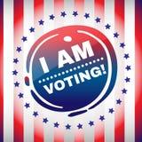 Eu estou votando a bandeira Foto de Stock Royalty Free