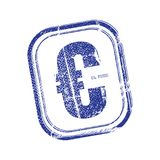 EU Euro Symbol Stamp. Grunge rubber stamp with the EU Euro Symbol Royalty Free Stock Photography