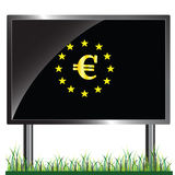 Eu with euro vector in colorful Royalty Free Stock Photos