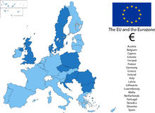 EU and the Euro zone Stock Photo