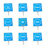 EU / Europe border signs Royalty Free Stock Photos