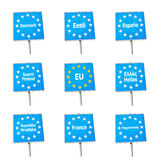 EU / Europe border signs Royalty Free Stock Photo