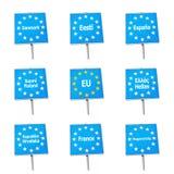 EU / Europe border signs Royalty Free Stock Photo